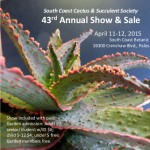 South Coast Cactus & Succulent Society Show & Sale 2015 (Sat)