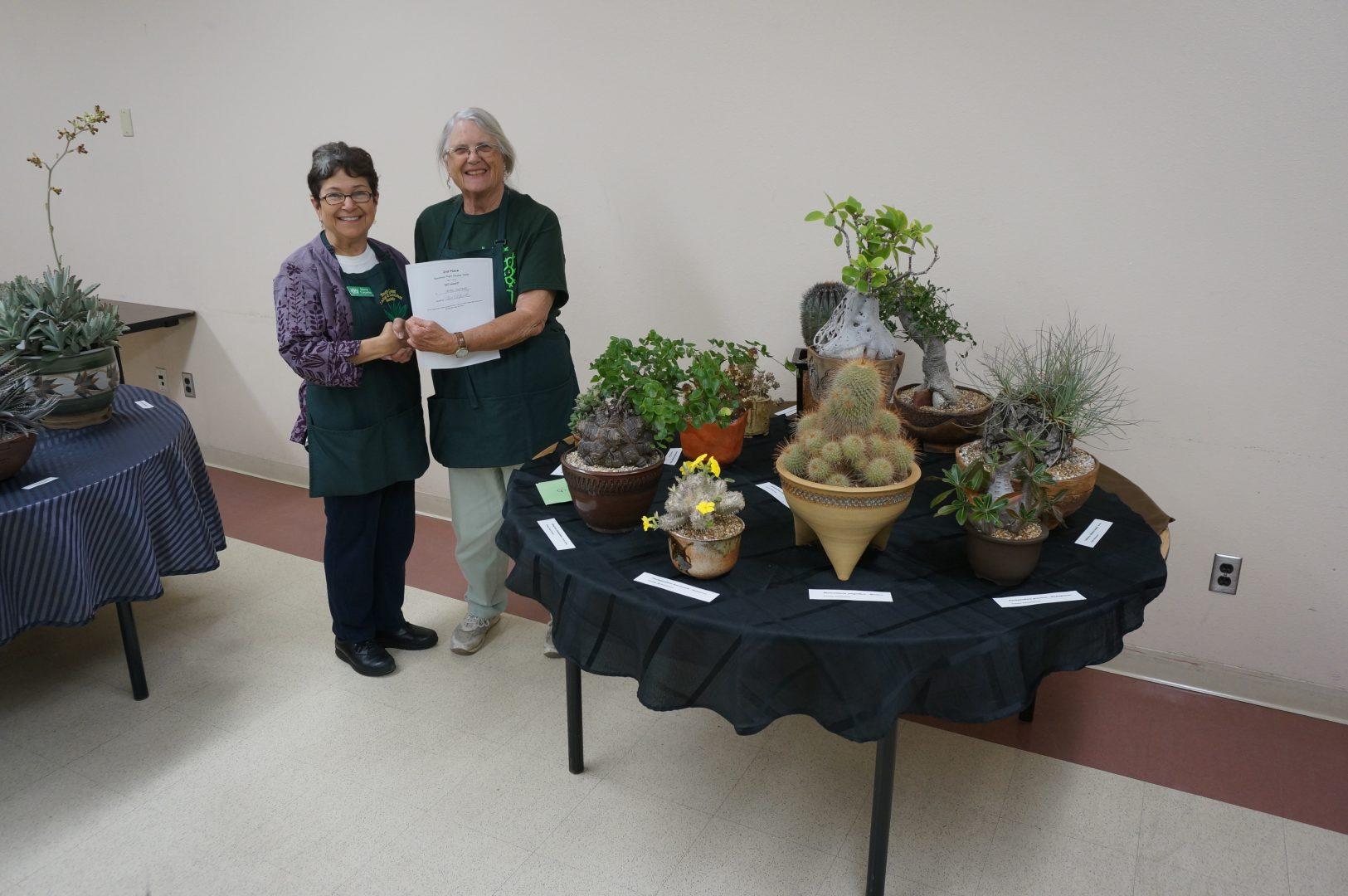 Laurel Woodley - 2nd prize Specimen table