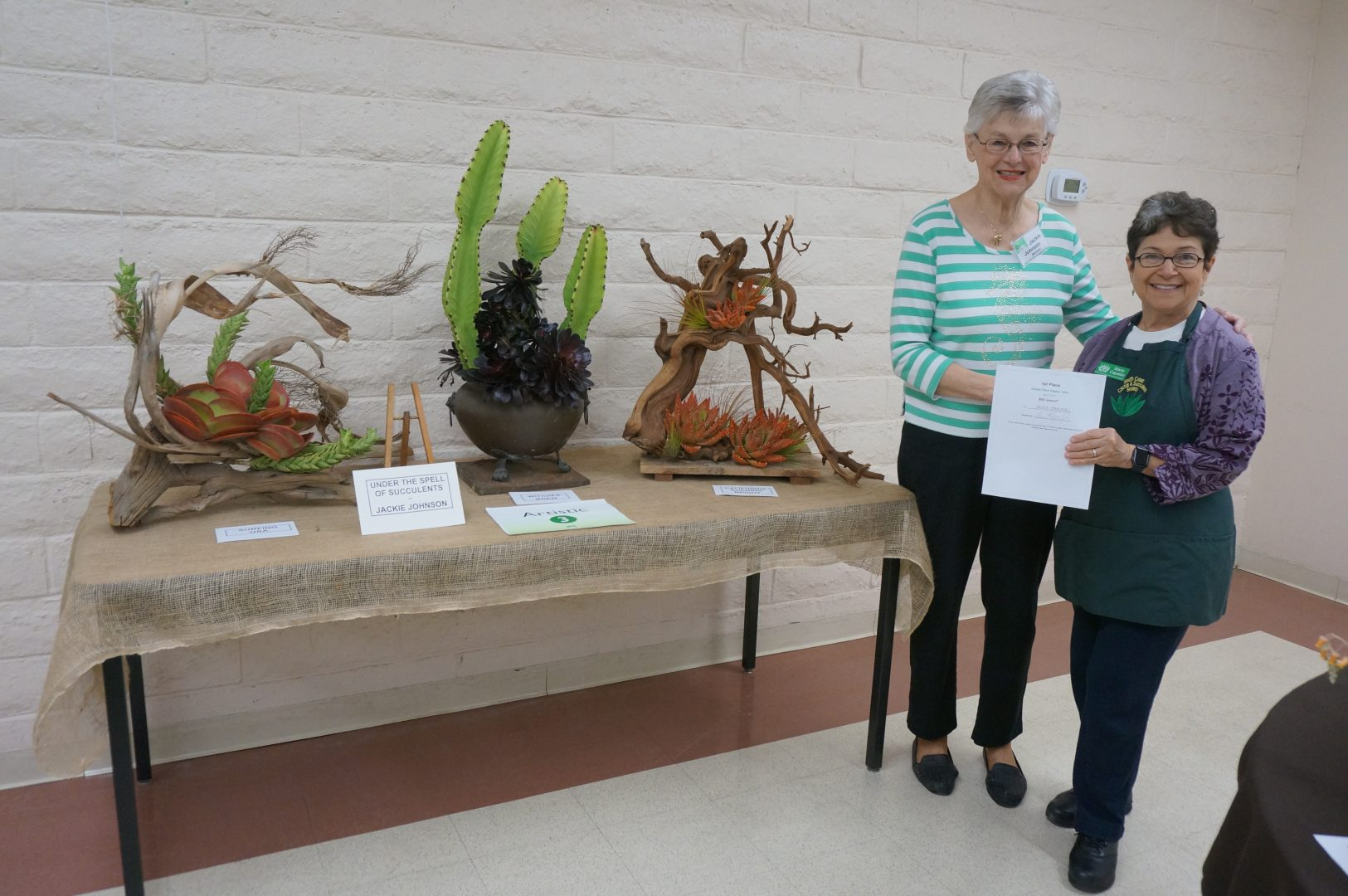 Jackie Johnson - 1st Prize Artistic Table
